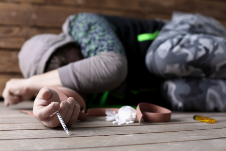 A heroin overdose can be developed from people who suffer an addiction to the drug