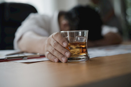 Picture of man passed out drunk