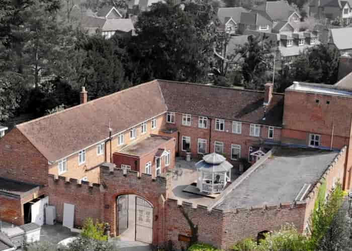 Aerial shot of leading UK drug and alcohol rehab provider Cassiobury Court